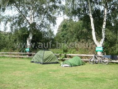 Auf dem Campingplatz Marburg