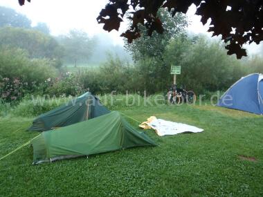 Auf dem Campingplatz Odersbach