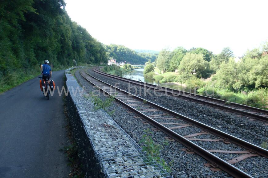 Bahngleise im Lahntal