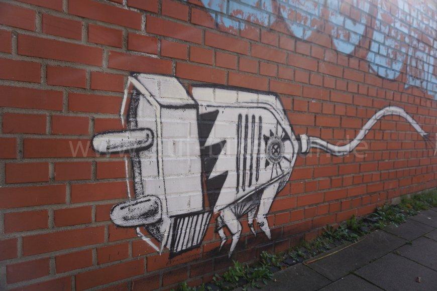 Graffiti Stromstecker