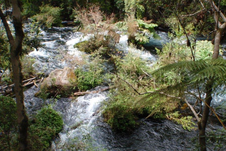 Wasserspiele Ojos de Caburgua